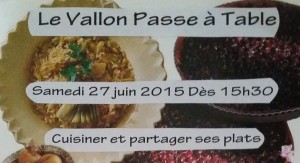 Le Vallon passe à table